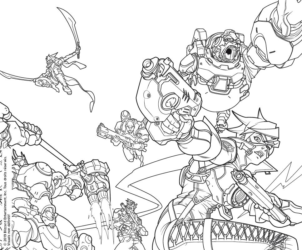 Les Livres De Coloriage Overwatch Et World Of Warcraft Arrivent En Force